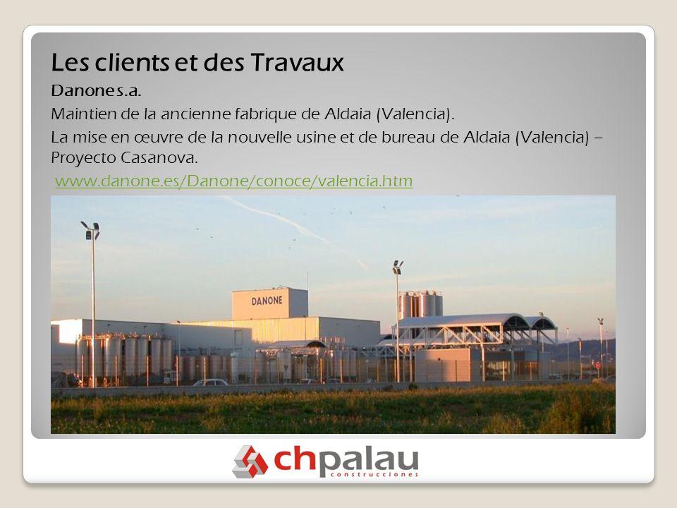 Les clients et des Travaux Danone s.a. Maintien de la ancienne fabrique de Aldaia (Valencia).