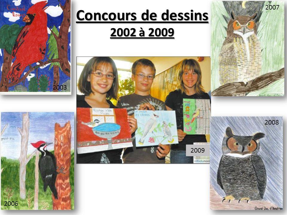 Concours de dessins 2002 à 2009 2009 2003 2006 2007 2008 2009