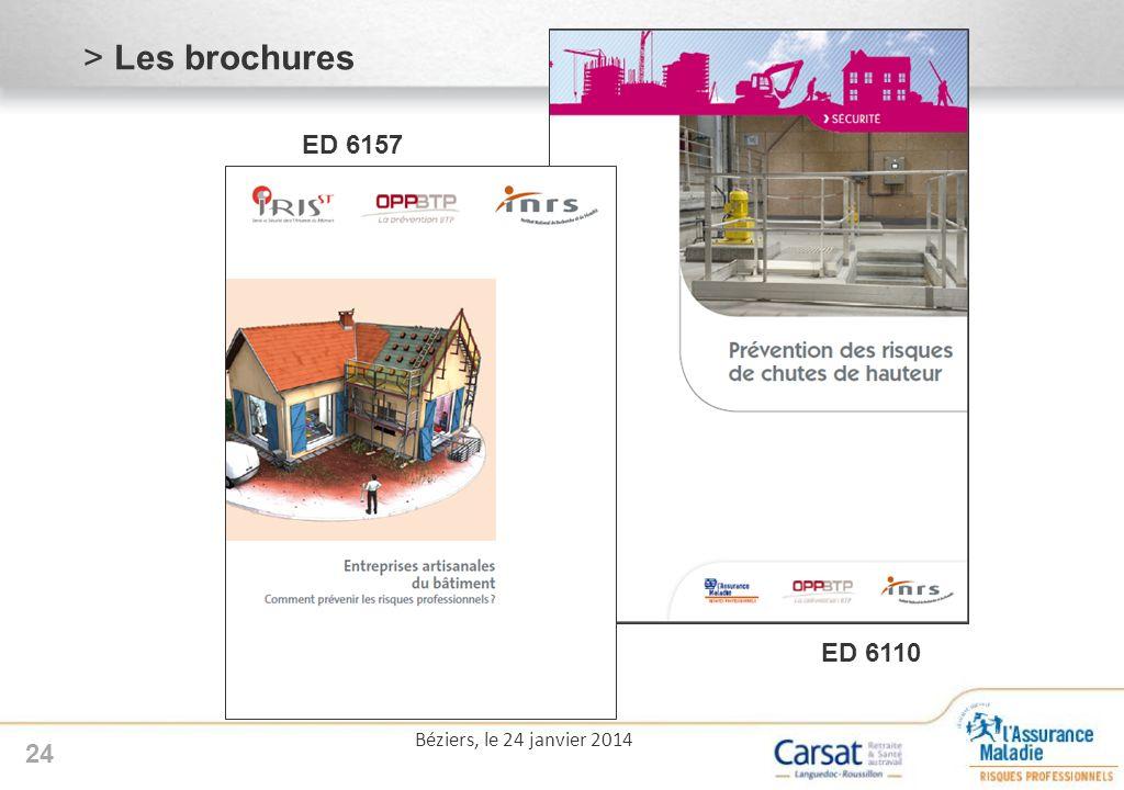 24 Béziers, le 24 janvier 2014 >Les brochures ED 6157 >ED 6110