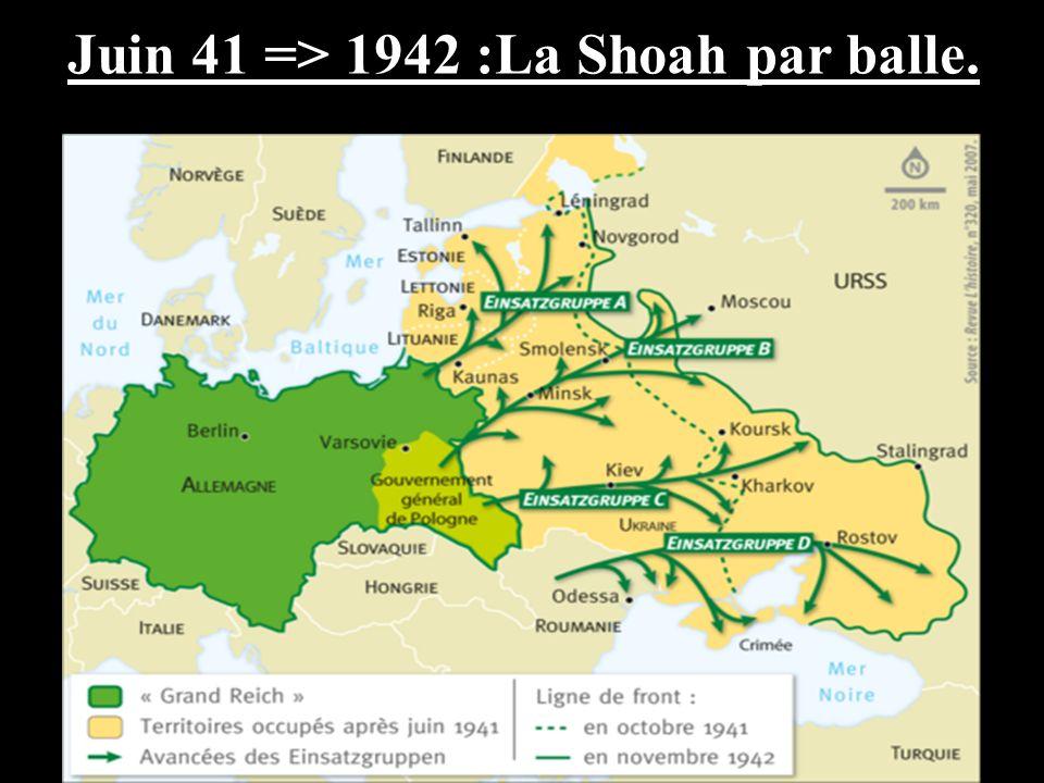 Juin 41 => 1942 :La Shoah par balle.