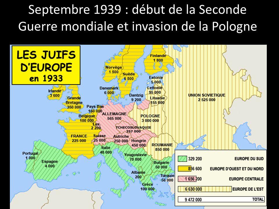 1939 1940 1941 1942 1943 1944 1945 Enfermement dans les ghettos en Pologne Septembre 1939 : début de la guerre Juin 41 : Plan Barbarossa