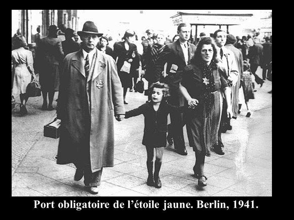Port obligatoire de létoile jaune. Berlin, 1941.