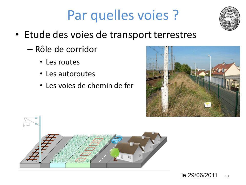 1018 juin 2010 Par quelles voies ? Etude des voies de transport terrestres – Rôle de corridor Les routes Les autoroutes Les voies de chemin de fer le