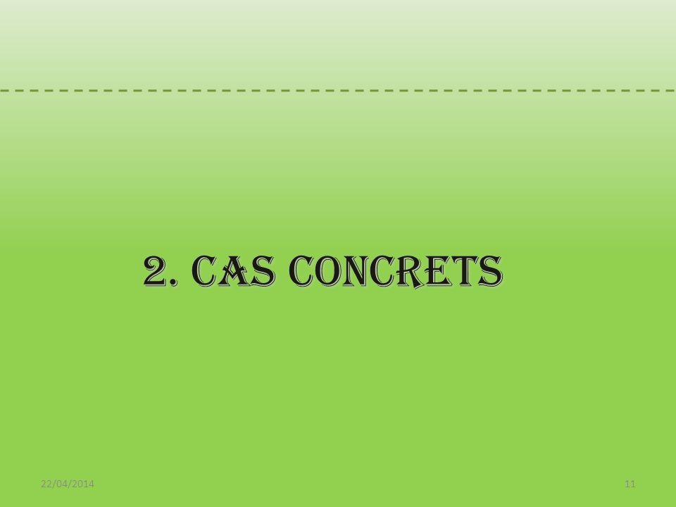 22/04/201411 2. cas concrets