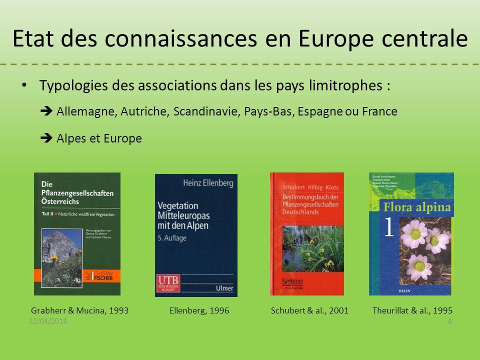 Etat des connaissances en Europe centrale Typologies des associations dans les pays limitrophes : Allemagne, Autriche, Scandinavie, Pays-Bas, Espagne