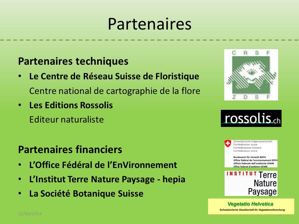 Partenaires Partenaires techniques Le Centre de Réseau Suisse de Floristique Centre national de cartographie de la flore Les Editions Rossolis Editeur