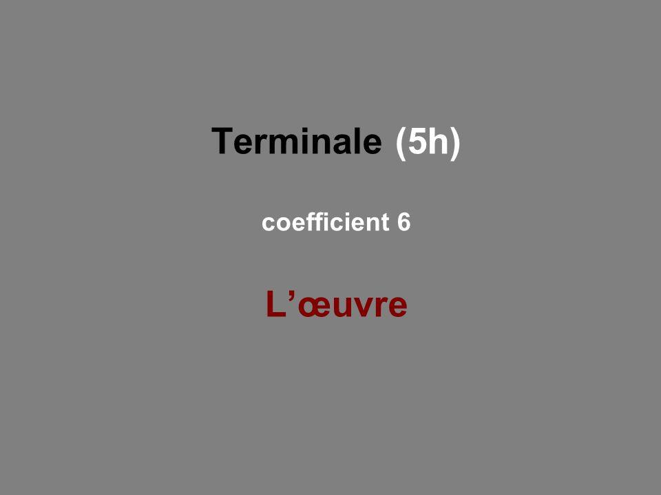 Terminale (5h) coefficient 6 Lœuvre