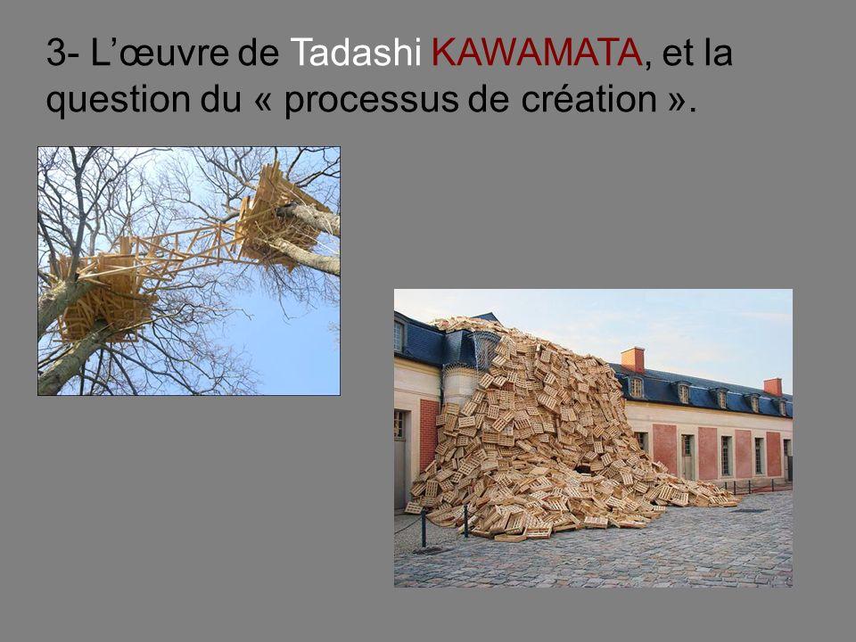 3- Lœuvre de Tadashi KAWAMATA, et la question du « processus de création ».