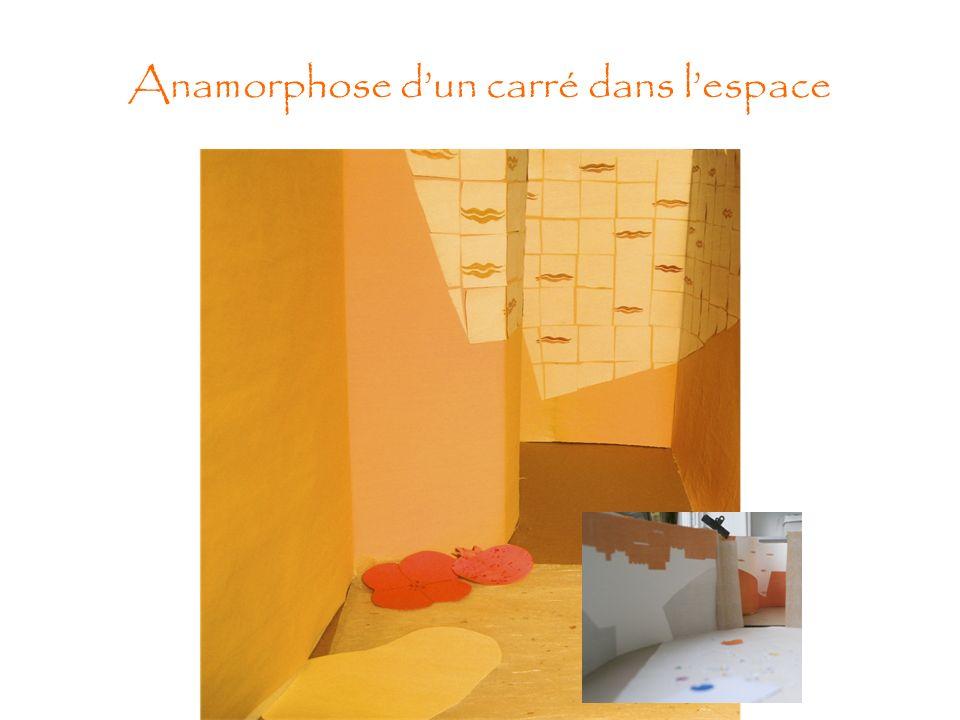 Anamorphose dun carré dans lespace