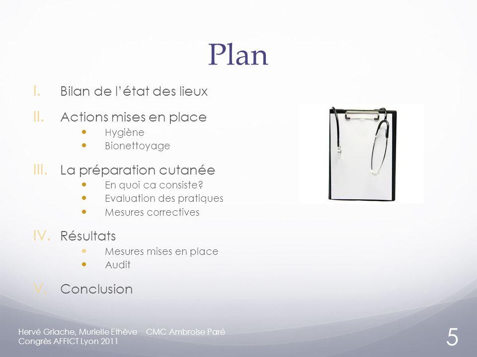 Plan I.Bilan de létat des lieux II. Actions mises en place Hygiène Bionettoyage III.
