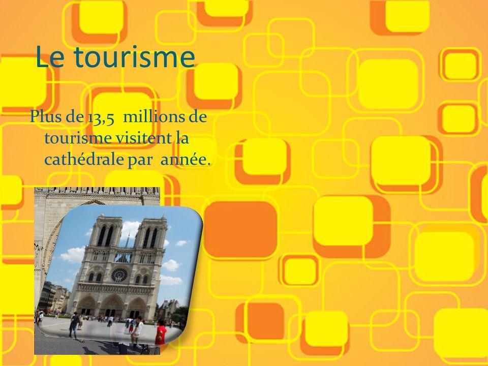 Le tourisme Plus de 13,5 millions de tourisme visitent la cathédrale par année.