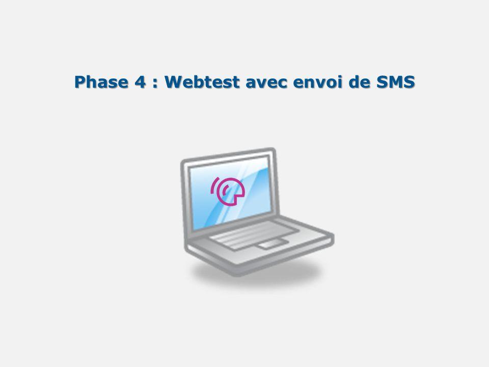 Phase 4 : Webtest avec envoi de SMS