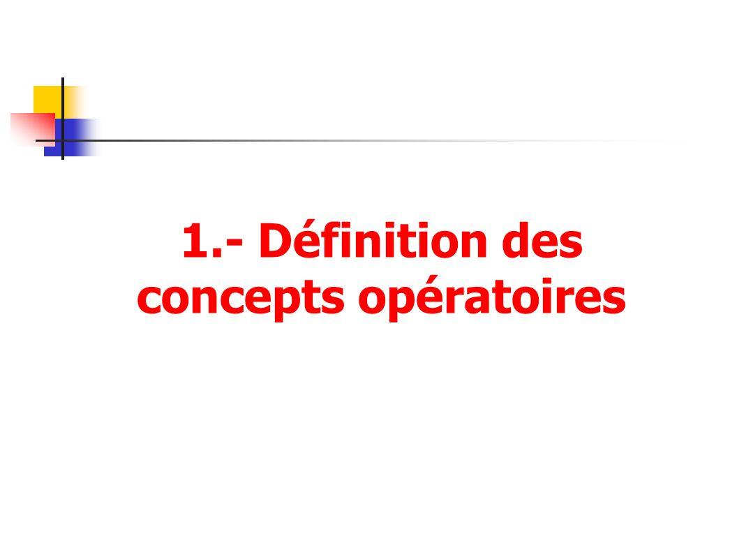 1.- Définition des concepts opératoires