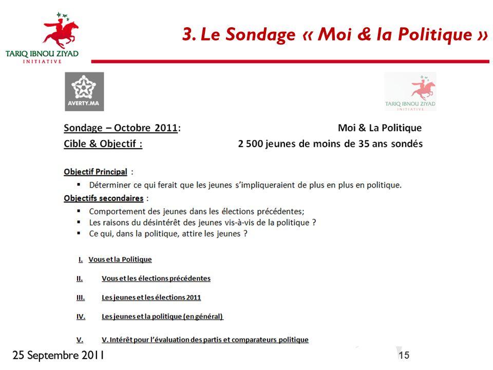 15 3. Le Sondage « Moi & la Politique »