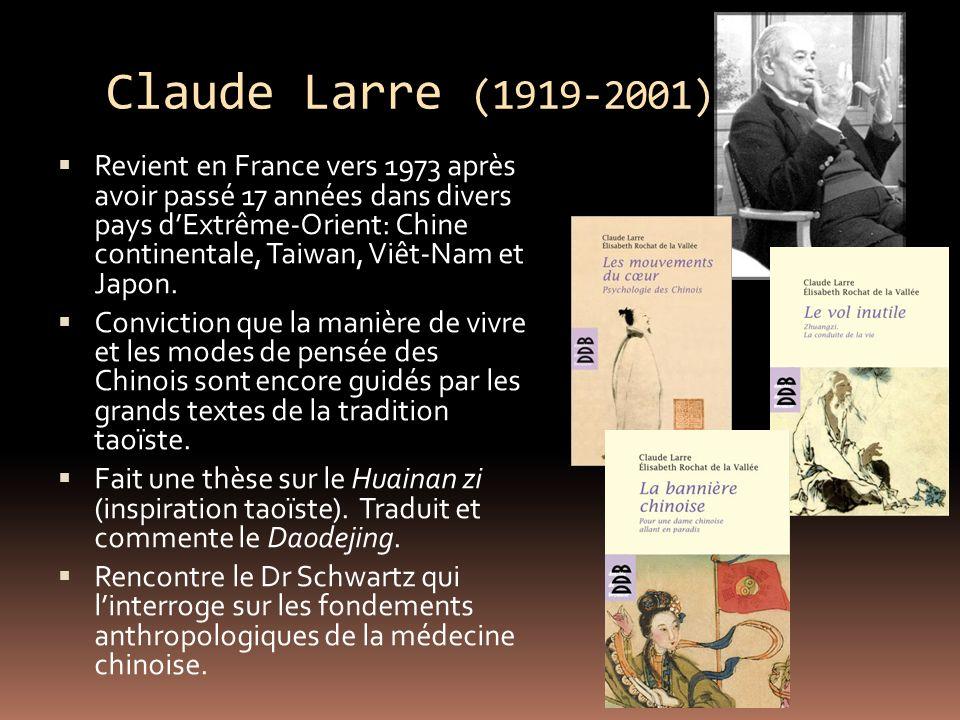 Claude Larre (1919-2001) Revient en France vers 1973 après avoir passé 17 années dans divers pays dExtrême-Orient: Chine continentale, Taiwan, Viêt-Nam et Japon.