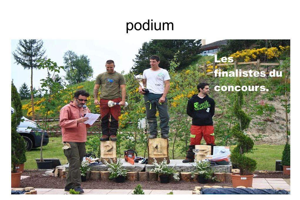 podium Les finalistes du concours.