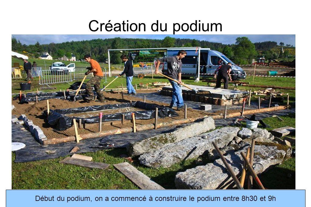 Construction du podium