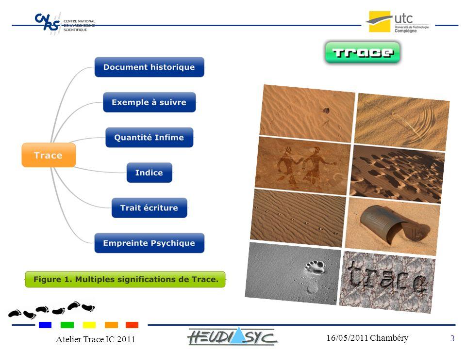 Nom du congrès Lieu - date 3 16/05/2011 Chambéry Atelier Trace IC 2011