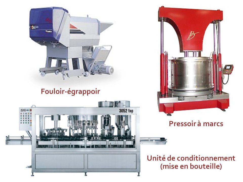 Fouloir-égrappoir Pressoir à marcs Unité de conditionnement (mise en bouteille)
