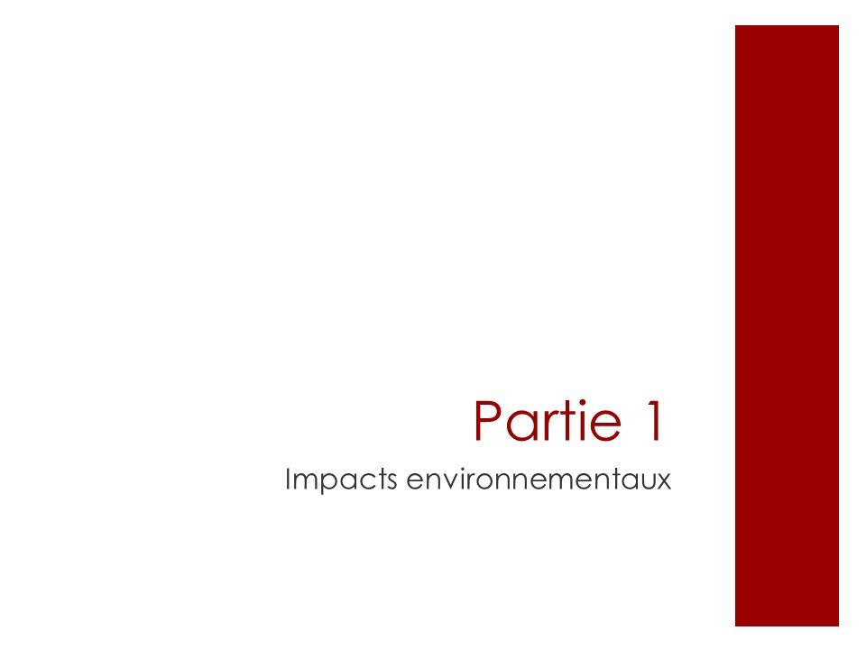 Partie 1 Impacts environnementaux