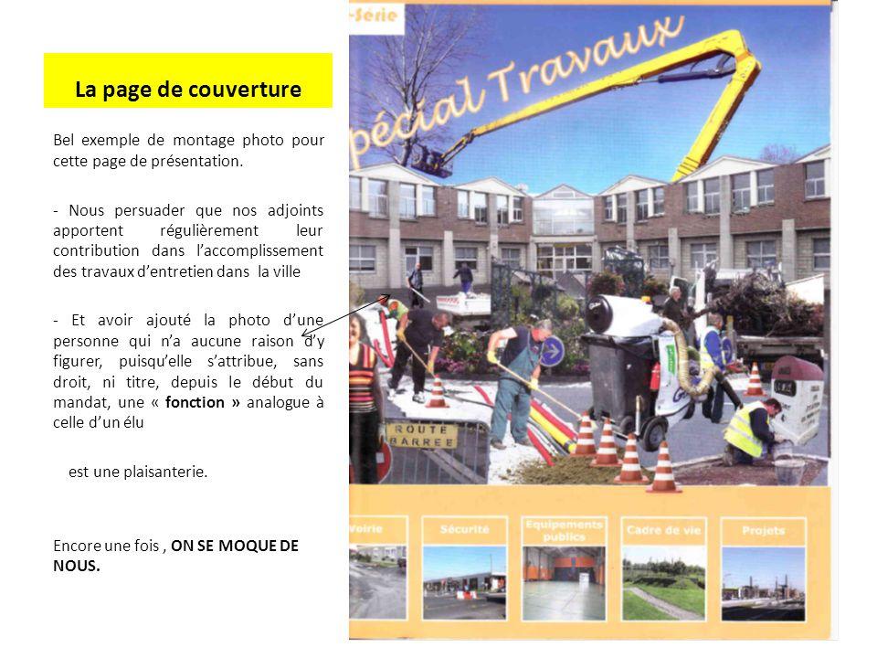 La page de couverture Bel exemple de montage photo pour cette page de présentation.