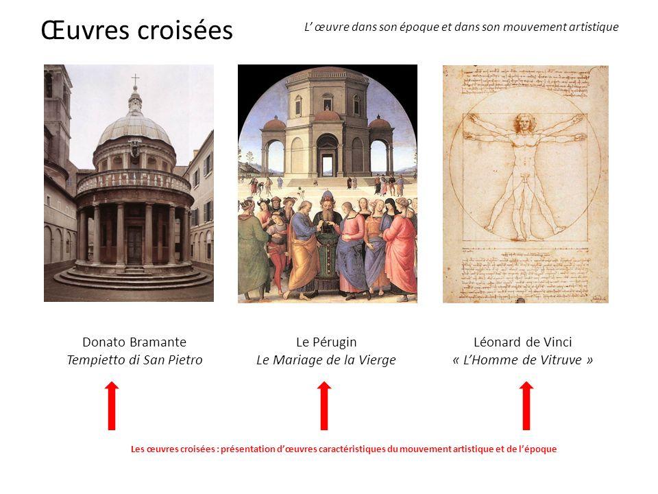 LE PERUGIN, Le Mariage de la Vierge En croisant ces deux œuvres, on peut mettre en évidence les relations étroites qui existent entre le maître Le Pérugin et son disciple Raphaël.