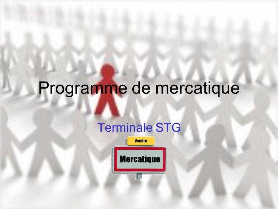 Programme de mercatique Terminale STG