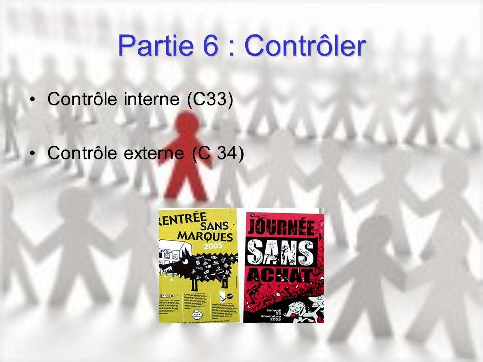 Partie 6 : Contrôler Contrôle interne (C33) Contrôle externe (C 34)