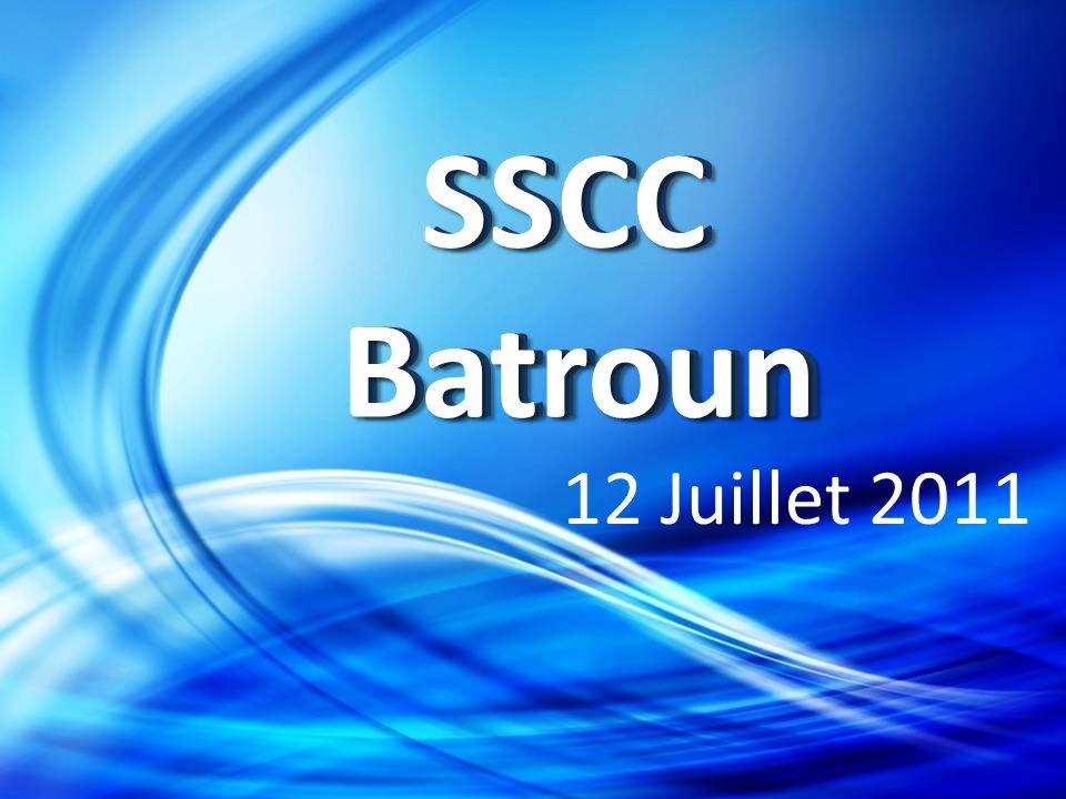 Réalisation Première partie SSCC BATROUNSSCC BATROUN S S C C B A T R O U N Deuxième partie Troisième partie