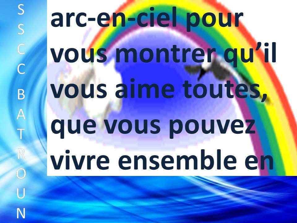 SSCC BATROUNSSCC BATROUN S S C C B A T R O U N arc-en-ciel pour vous montrer quil vous aime toutes, que vous pouvez vivre ensemble en