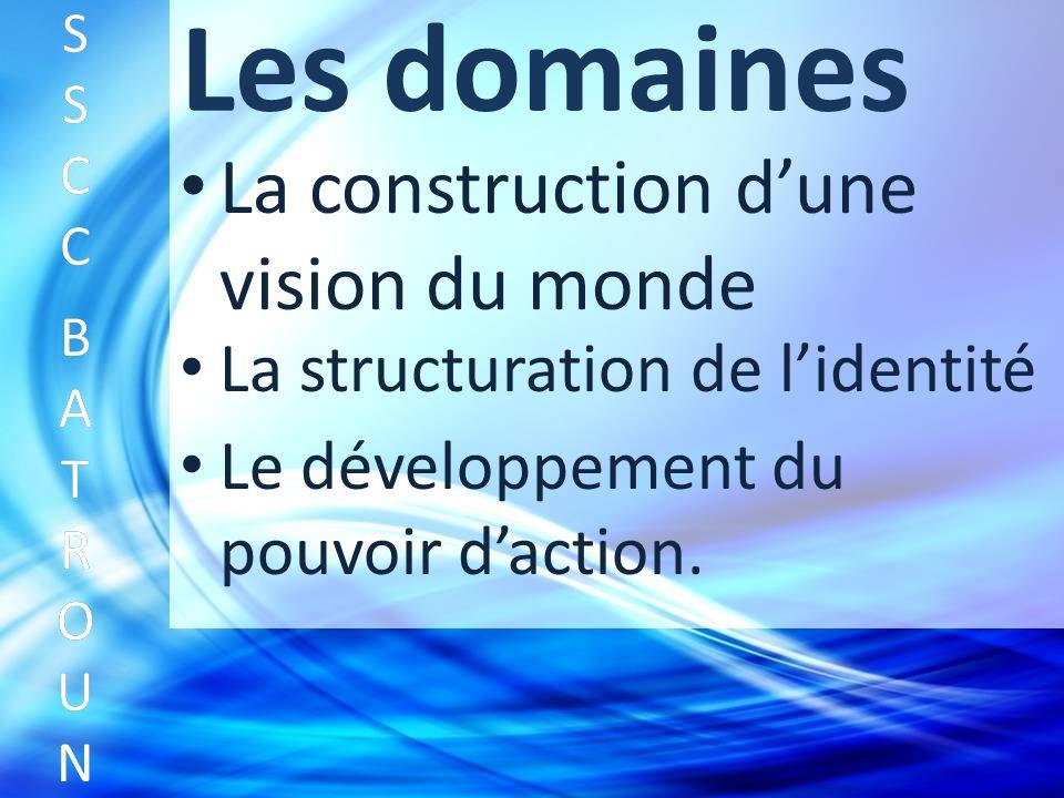 Les domaines La construction dune vision du monde SSCC BATROUNSSCC BATROUN S S C C B A T R O U N La structuration de lidentité Le développement du pouvoir daction.