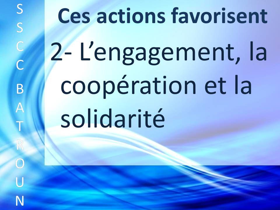 Ces actions favorisent SSCC BATROUNSSCC BATROUN S S C C B A T R O U N 2- Lengagement, la coopération et la solidarité