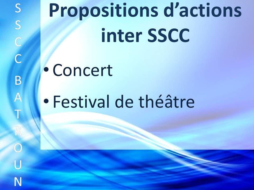 Propositions dactions inter SSCC Concert SSCC BATROUNSSCC BATROUN S S C C B A T R O U N Festival de théâtre