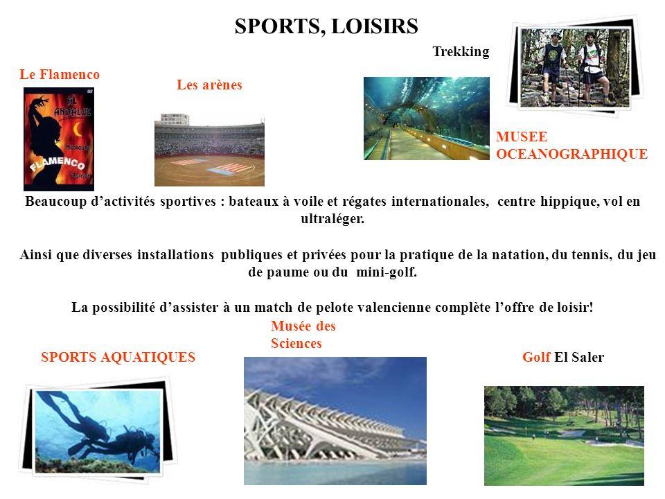 Beaucoup dactivités sportives : bateaux à voile et régates internationales, centre hippique, vol en ultraléger.