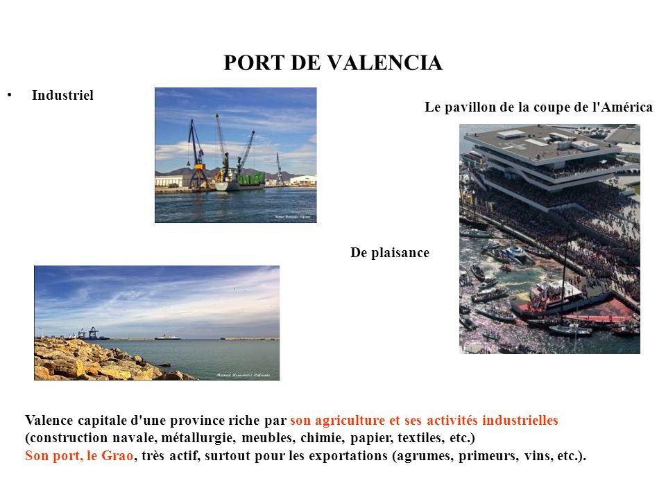 PORT DE VALENCIA Industriel Le pavillon de la coupe de l'América De plaisance Valence capitale d'une province riche par son agriculture et ses activit