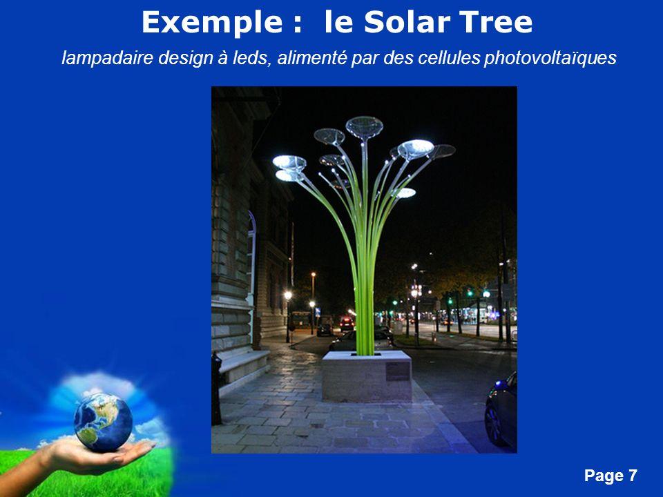 Free Powerpoint Templates Page 7 Exemple : le Solar Tree lampadaire design à leds, alimenté par des cellules photovoltaïques
