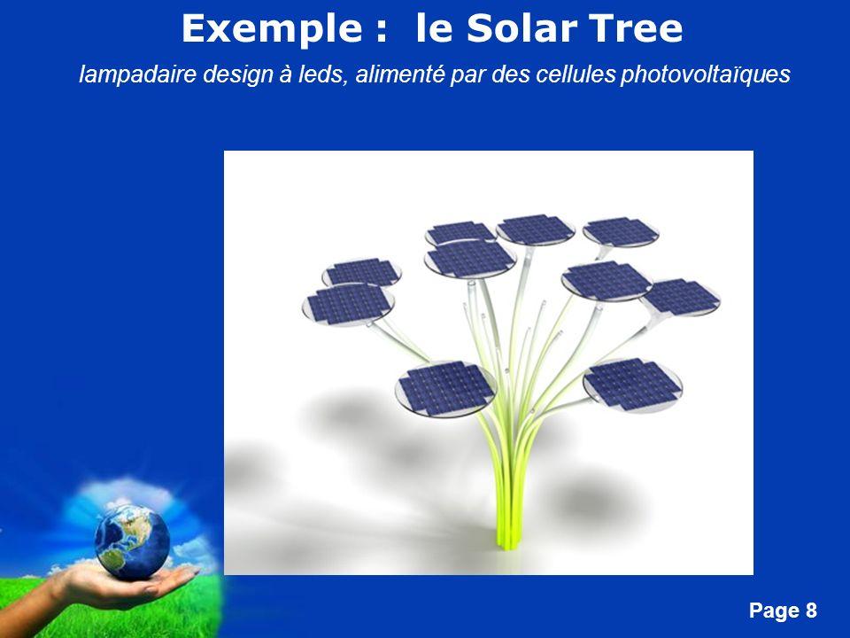Free Powerpoint Templates Page 8 Exemple : le Solar Tree lampadaire design à leds, alimenté par des cellules photovoltaïques