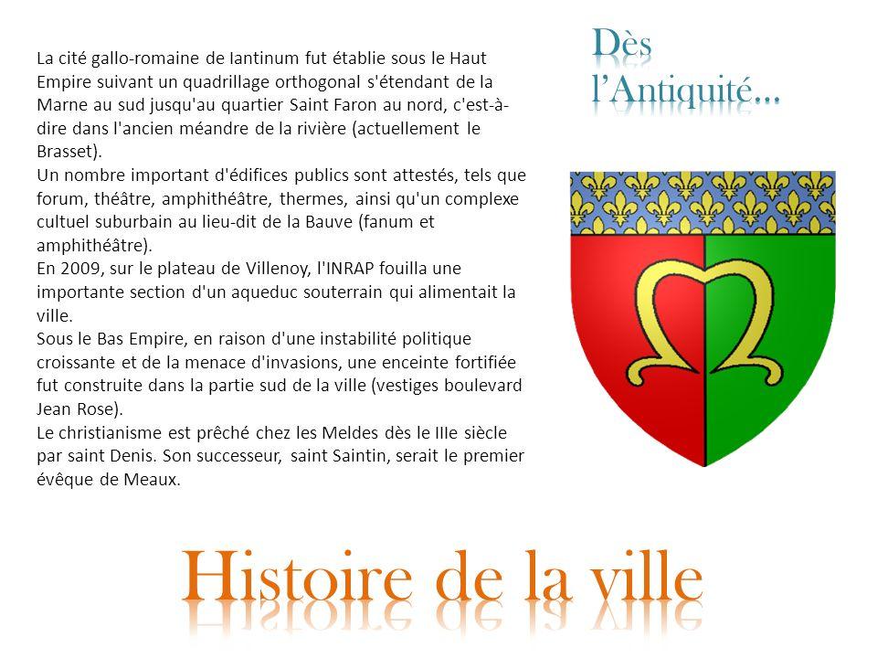 La cité gallo-romaine de Iantinum fut établie sous le Haut Empire suivant un quadrillage orthogonal s'étendant de la Marne au sud jusqu'au quartier Sa