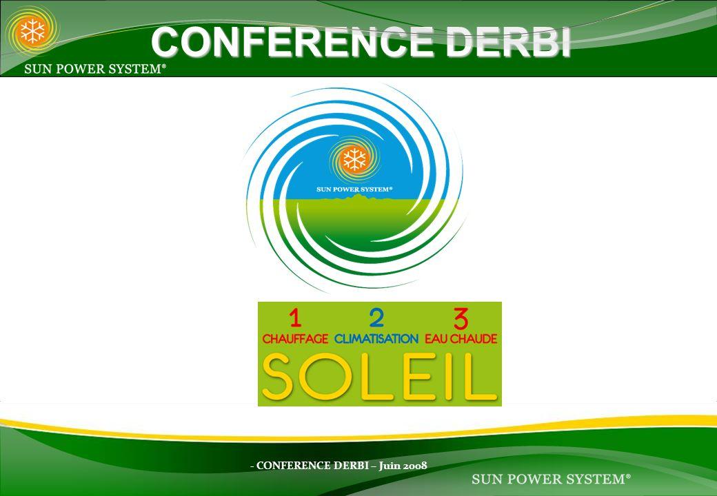 - CONFERENCE DERBI – Juin 2008 CONFERENCE DERBI