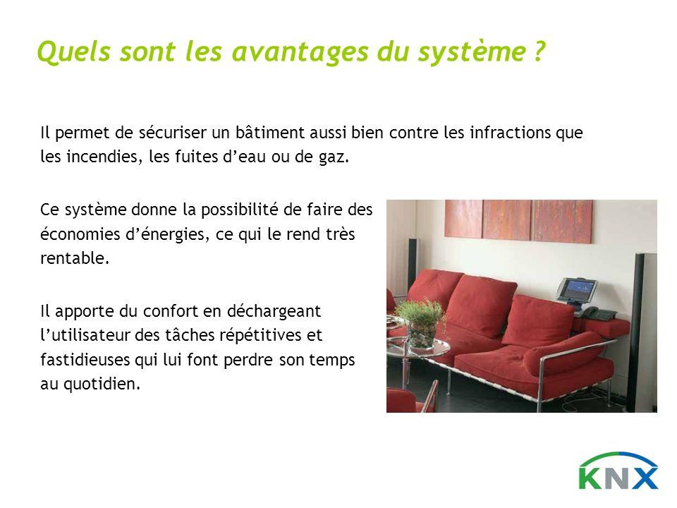 Il permet de sécuriser un bâtiment aussi bien contre les infractions que les incendies, les fuites deau ou de gaz. Ce système donne la possibilité de