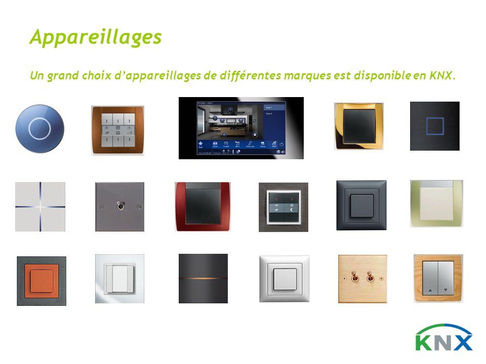 Appareillages Un grand choix dappareillages de différentes marques est disponible en KNX.