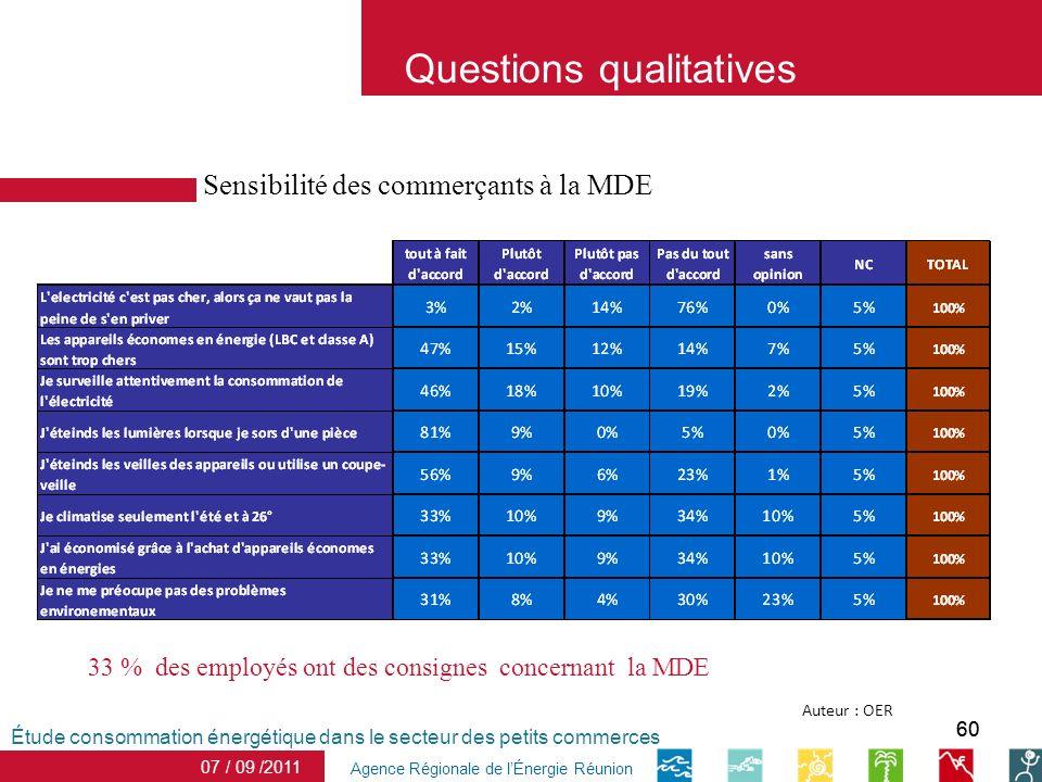 60 date Agence Régionale de lÉnergie Réunion Sensibilité des commerçants à la MDE Étude consommation énergétique dans le secteur des petits commerces