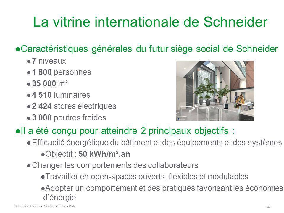 Schneider Electric 33 - Division - Name – Date La vitrine internationale de Schneider Caractéristiques générales du futur siège social de Schneider 7