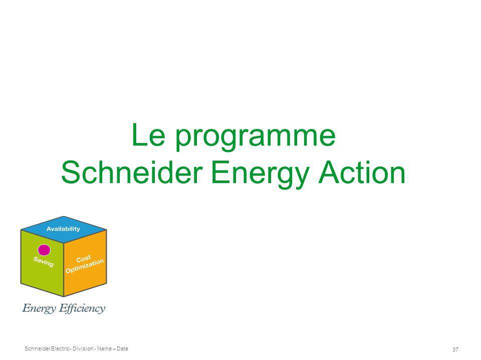 Schneider Electric 37 - Division - Name – Date Le programme Schneider Energy Action