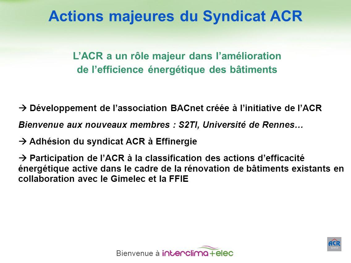 Paris – 23 mars 2011 - 22 Développement de lassociation BACnet créée à linitiative de lACR Bienvenue aux nouveaux membres : S2TI, Université de Rennes
