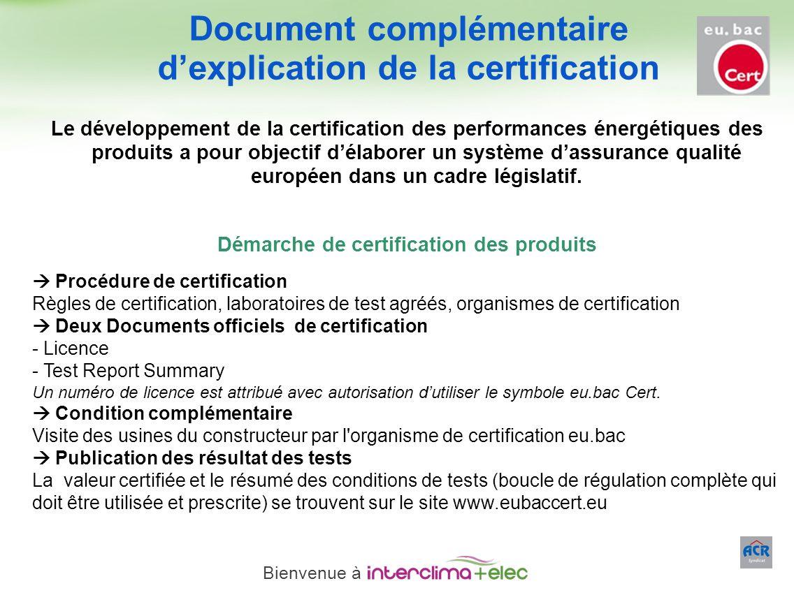 Paris – 23 mars 2011 - 23 Le développement de la certification des performances énergétiques des produits a pour objectif délaborer un système dassura