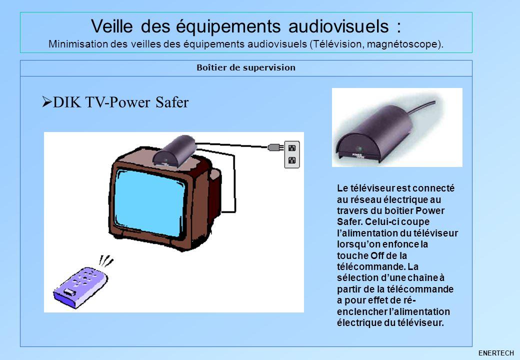 ENERTECH Veille des équipements audiovisuels : Minimisation des veilles des équipements audiovisuels (Télévision, magnétoscope). Boîtier de supervisio