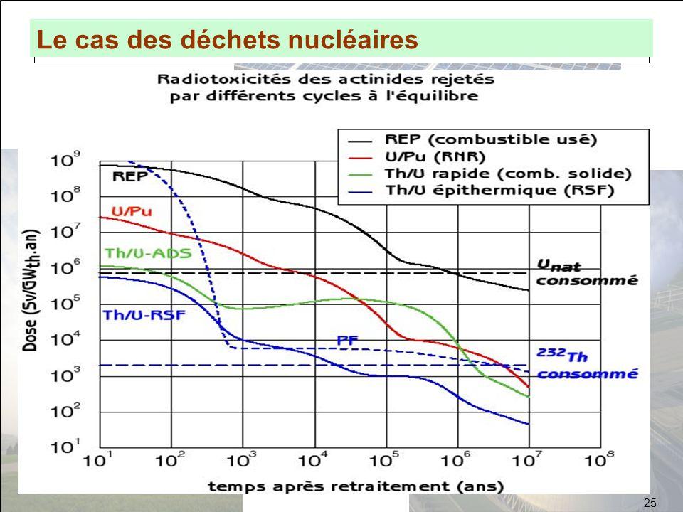 Lintérêt de Génération IV Le cas des déchets nucléaires 25