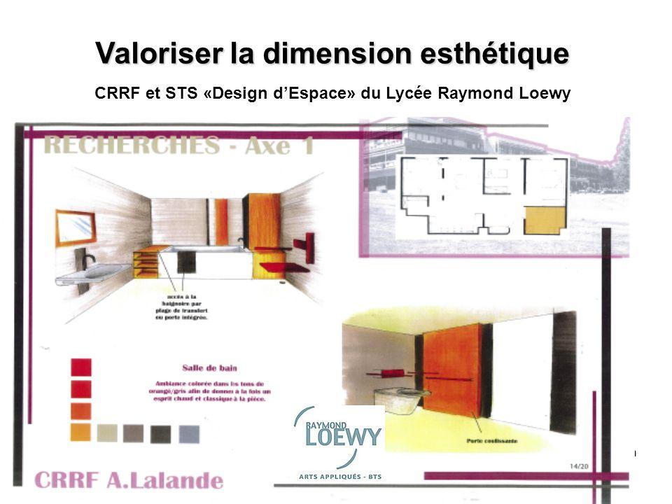 CRRF Noth Valoriser la dimension esthétique CRRF et STS «Design dEspace» du Lycée Raymond Loewy