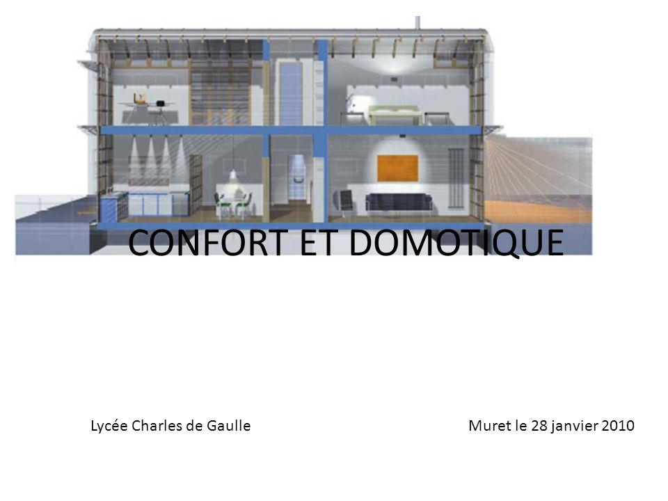 CONFORT ET DOMOTIQUE Lycée Charles de Gaulle Muret le 28 janvier 2010